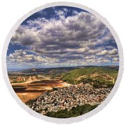 Round Beach Towel featuring the photograph Emek Israel by Ron Shoshani