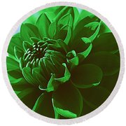 Round Beach Towel featuring the photograph Emerald Green Beauty by Dora Sofia Caputo Photographic Art and Design
