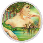 Emerald Lake Round Beach Towel