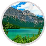 Emerald Lake In Yoho Np-bc Round Beach Towel by Ruth Hager