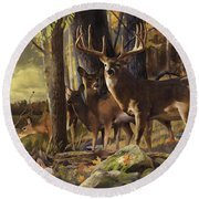 Eminence At The Forest Edge Round Beach Towel