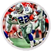 Emmitt Smith Round Beach Towel