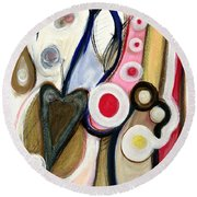 Round Beach Towel featuring the painting Emotions by Stephen Lucas