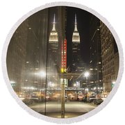 Empire Reflections Round Beach Towel