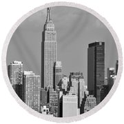 Empire State Building Round Beach Towel