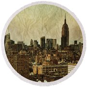 Empire Stories Round Beach Towel