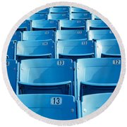 Empty Blue Seats In A Stadium, Soldier Round Beach Towel by Panoramic Images