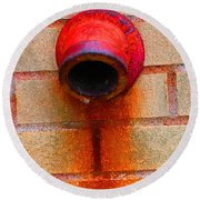 Empty Round Beach Towel by Christiane Hellner-OBrien