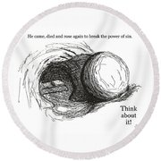 Empty Tomb Round Beach Towel