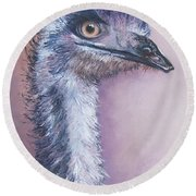 Emu By Jan Matson Round Beach Towel