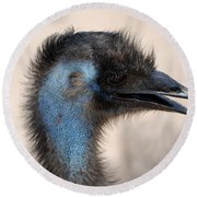 Emu Round Beach Towel by DejaVu Designs