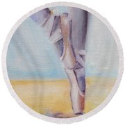 En Pointe Round Beach Towel by Donna Tuten