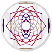 Enchanted Awareness Abstract Chakra Artwork By Omaste Witkowski  Round Beach Towel