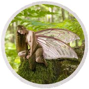 Enchanted Fairy Round Beach Towel
