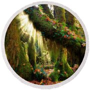 Enchanted Forest Round Beach Towel