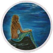 Enchanted Mermaid Beauty Round Beach Towel