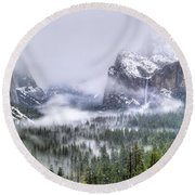Enchanted Valley Round Beach Towel