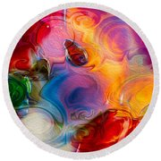 Enchanting Flames Round Beach Towel