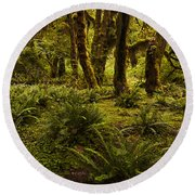 Enchantment Round Beach Towel by Mark Kiver