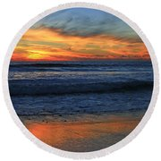 Swamis Window Round Beach Towel
