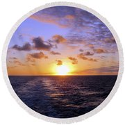 Hawaiian End Of Day Round Beach Towel