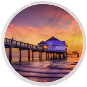 End Of The Day Round Beach Towel by Marvin Spates