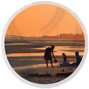 End Of The Day Round Beach Towel