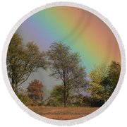 End Of The Rainbow Round Beach Towel