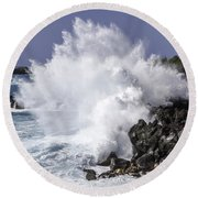 End Of The World Explosion Round Beach Towel