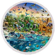Endangered Species Round Beach Towel