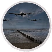 Enemy Coast Ahead Skipper Round Beach Towel