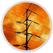 Energized Round Beach Towel