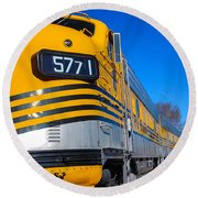 Round Beach Towel featuring the photograph Engine 5771 by Shannon Harrington