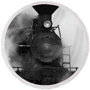 Engine No. 6 Round Beach Towel by Jerry Fornarotto