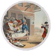 England, Illustration From Hogarth Round Beach Towel