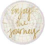 Enjoy The Journey Round Beach Towel