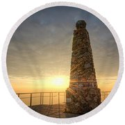 Ensign Peak Nature Park Utah Round Beach Towel by Michael Ver Sprill