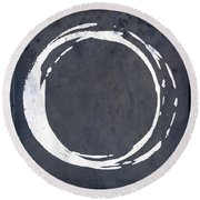 Enso No. 107 Blue Round Beach Towel