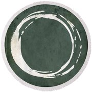 Enso No. 107 Green Round Beach Towel
