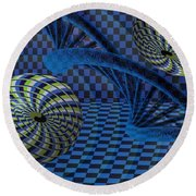 Entanglement Round Beach Towel