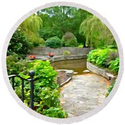 Enter The Garden Round Beach Towel by Charlie and Norma Brock