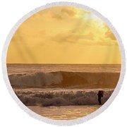 Enter The Surfer Round Beach Towel
