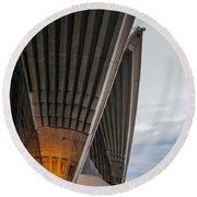 Entrance To Opera House In Sydney Round Beach Towel by Jola Martysz