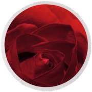 Enveloped In Red Round Beach Towel