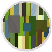 Envious Round Beach Towel by Lourry Legarde