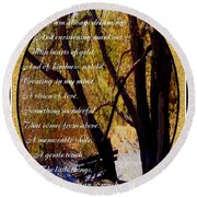 Envisioning Inspirational Round Beach Towel by Bobbee Rickard