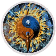Equilibria Round Beach Towel by Kenneth Armand Johnson