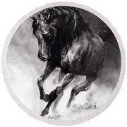 Equine Round Beach Towel