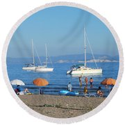 Erikousa Beach One Round Beach Towel