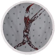 Erinyes Round Beach Towel by Robert Nickologianis